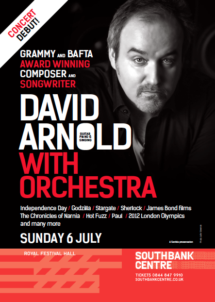 Concert flyers and posters | David Arnold Live in Concert