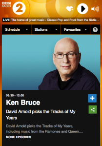 Screen shot of Ken Bruce's podcast on BBC Radio 2
