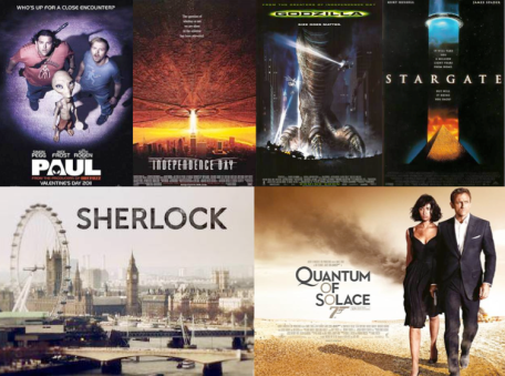 Rectangle banner of some of David Arnold's films