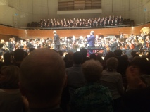 David and Ludwig applaud the amazing orchestra and choir